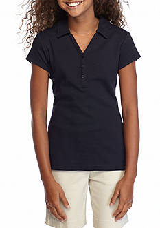 IZOD Uniform Y-Neck Polo Girls 7-16