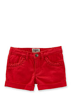 OshKosh B'gosh Twill Braided Shorts Girls 4-6x