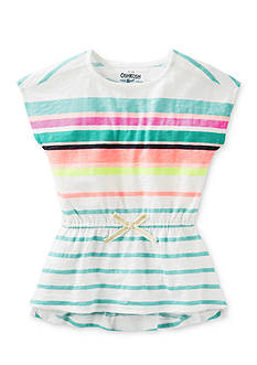 OshKosh B'gosh Short Sleeve Multi Strip Tunic Girls 4-6x