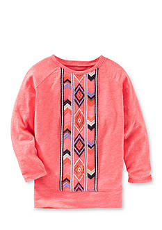 OshKosh B'gosh Long Sleeve Aztec Print Tunic Girls 4-6x