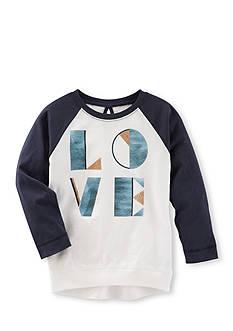 OshKosh B'gosh Long Sleeve Love Raglan Tunic Girls 4-6x
