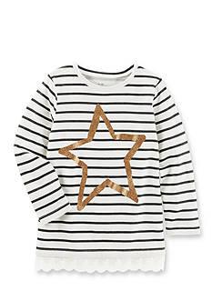 OshKosh B'gosh Long Sleeve Striped Star Tunic Girls 4-6x