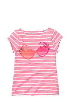 OshKosh B'gosh Striped Sunglasses Tee Girls4-6X