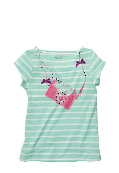 OshKosh B'gosh® Striped Camera Tee Girls4-6X