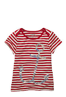 OshKosh B'gosh Striped Anchor Tee Girls 4-6X