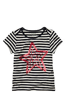 OshKosh B'gosh Navy Stripe Star Tee Girls 4-6X