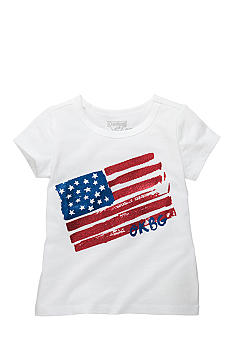 OshKosh B'gosh Heart Flag Tee Girls 4-6X