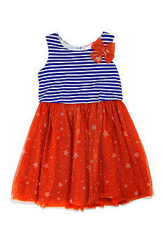Nannette Stars and Stripes Dress Girls 4-6x