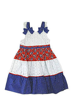 Nannette Tiered Bandana Dress Girls 4-6x