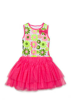 Nannette Floral Mesh Dress Girls 4-6x