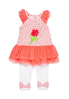Nannette 2-Piece Geo Print Tunic and Capri Set Girls 4-6x