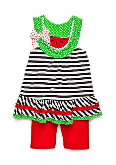Nannette 2-Piece Watermelon Tunic and Biker Short Set Girls 4-6x