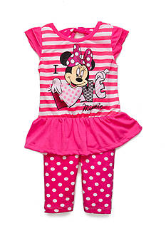 Disney 2-Piece 'I Love Minnie' Tunic and Dot Leggings Set Girls 4-6x