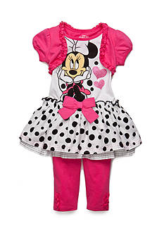 Disney 2-Piece Minnie Mouse Dot Tunic and Leggings Set Girls 4-6x
