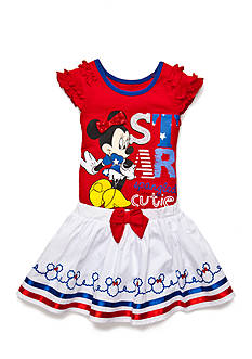 Disney 2-Piece Minnie Mouse Top and Scooter Set Girls 4-6x