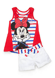Disney 2-Piece Minnie Mouse Tank Top and Short Set Girls 4-6x