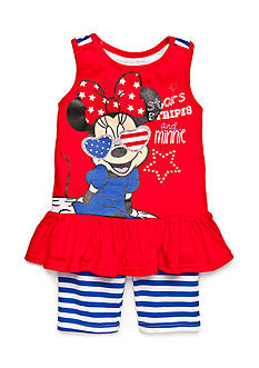 Disney 2-Piece 'Stars Stripes and Minnie' Tunic and Biker Short Set Girls 4-6x