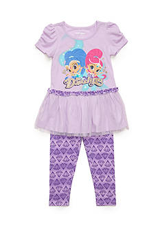 Nickelodeon™ 2-Piece Shimmer and Shine Tunic and Printed Legging Set Girls 4-6x