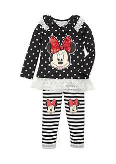 Disney 2-Piece Minnie Mouse Dot/Striped Set Girls 4-6x