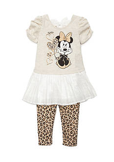 Disney 2-Piece Minnie Mouse Character Tunic and Legging Set Girls 4-6x
