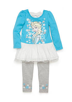 Disney 2-Piece Frozen Chiffon Tunic and Legging Set Girls 4-6x