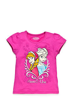 Disney Printed Frozen Sisters Top Girls 4-6x
