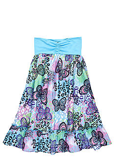 One Step Up Butterfly Print Skirt As A Dress Girls 7-16