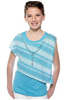 One Step Up Popover Necklace Shirt Girls 7-16