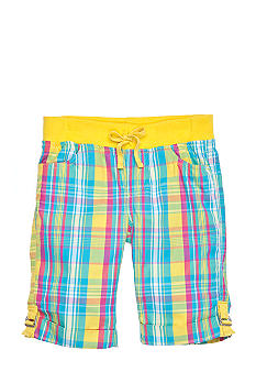 One Step Up Knit Plaid Bermuda Girls 7-16
