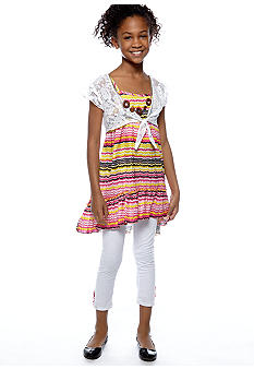 One Step Up Printed Shrug Set Girls 7-16