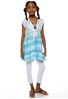 One Step Up Tie Dye Shrug Set Girls 7-16