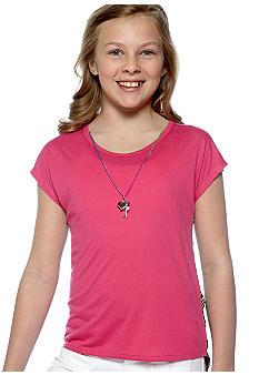 One Step Up Animal Back Necklace Shirt Girls 7-16