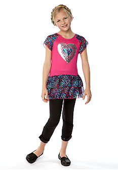 Belle du Jour Sequin Animal Legging Set Girls 7-16