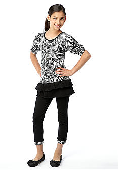 One Step Up Sequin Zebra Animal Set Girls 7-16