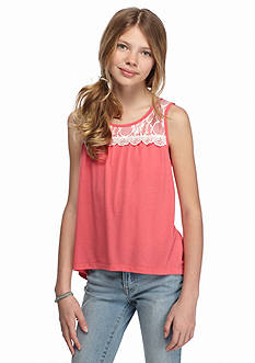 One Step Up Crochet Knit High Low Tank Top Girls 7-16