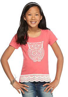 One Step Up Owl Crochet High Low Top Girls 7-16