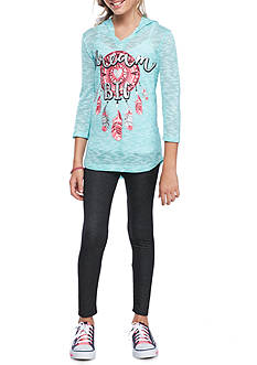 One Step Up Dream Catcher Boucle Hoodie and Legging 2- Piece Set Girls 7-16