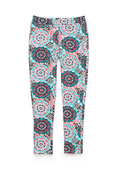 One Step Up Multi Colored Floral Jegging Pants Girls 7-16