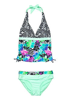Breaking Waves Surfin Safari Tankini Girls 7-16