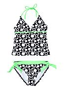 Breaking Waves Bubble Gum Tankini Girls 7-16