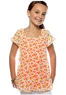Grane Rose Print Woven Top Girls 7-16