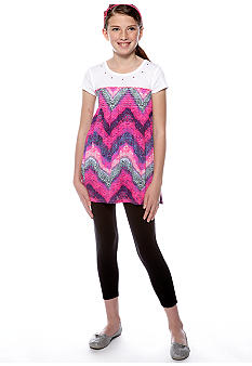 Energie Animal Print Tunic and Legging Set Girls 7-16