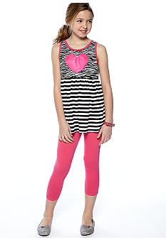 Grane Zebra Print Legging Set Girls 7-16