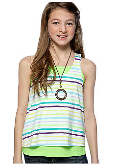Grane Stripe Layered Tank Girls 7-16