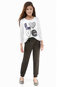 Energie 2-Piece Love Tee and Soft Pant Set Girls 7-16