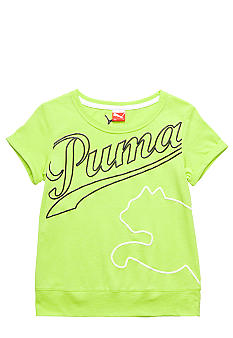 Puma Oversized Logo Tee Girls 7-16