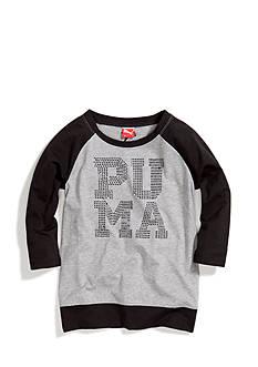 Puma Logo 3/4 Sleeve Raglan Tee Girls 7-16