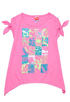 Puma Peek-a-Boo Sleeve Tee Girls 4-6x