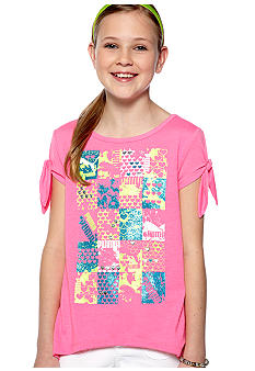 Puma Peek-a-Boo Sleeve Tee Girls 7-16