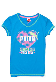 Puma Staying Cute V-Neck Tee Girls 4-6x